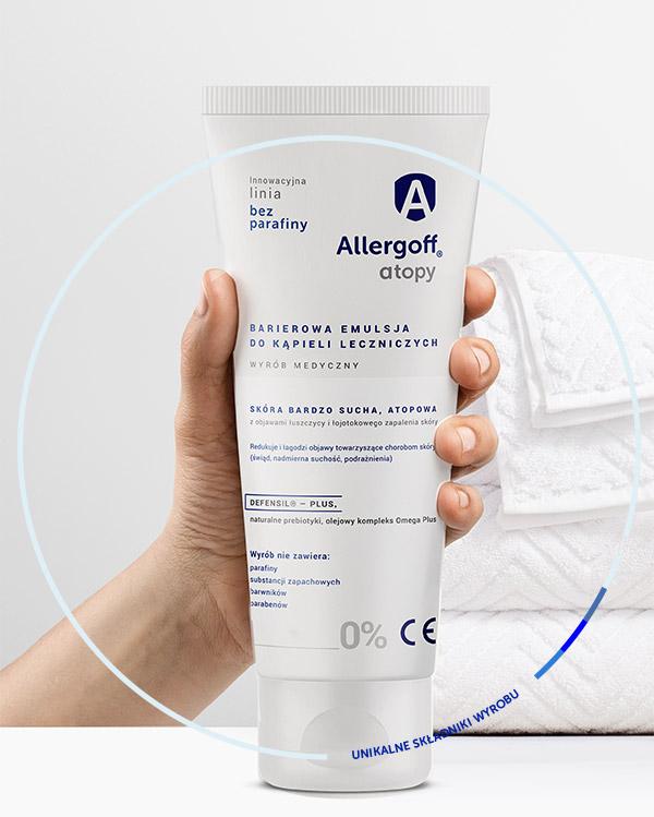 Unikalne składniki Allergoff Barierowej emulsji do kąpieli leczniczych - zdjęcie