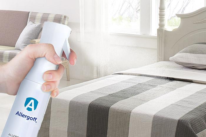 Zdjęcie przedstawiające użycie Allergoff spray